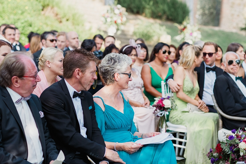 wedding ceremony at borgo santambrogio tuscany