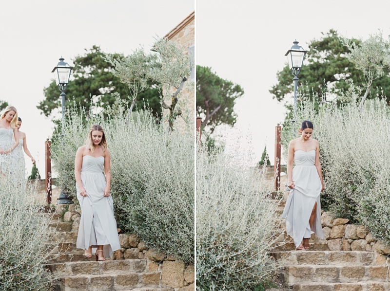 bridesmaids at borgo santambrogio
