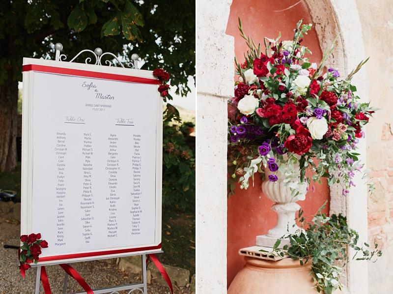 tuscan wedding table plan