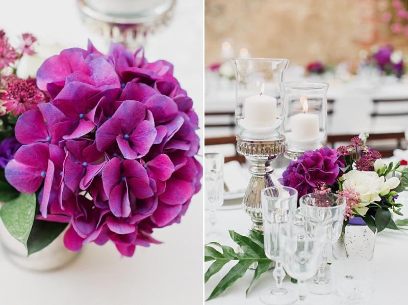allestimento tavolo matrimonio in toscana