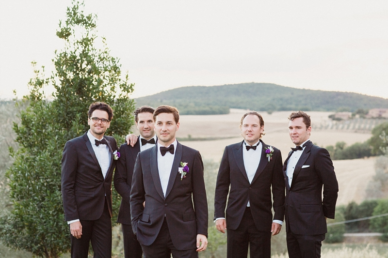 groom portrait with tuscan view