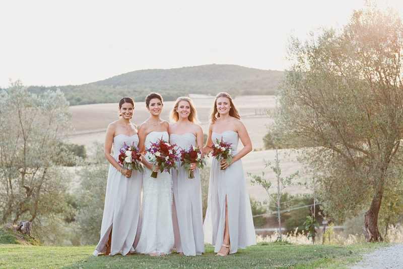 fine art bride and bridesmaids portrait